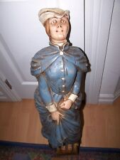 Vintage Alfco Ny Ship's Nautical Figurehead Wall Mount Lady In Blue Dress