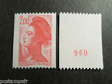 FRANCE 1983, timbre 2277a, type ROULETTE n° ROUGE LIBERTE, neuf**, VF MNH STAMP