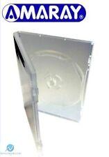 100 x 3 VIE chiaro DVD DA 14 MM DORSO contiene 3 dischi con PAK sostituzione Custodia Amaray
