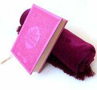 Le Saint Coran (arabe-français-phonétique) avec couverture daim de luxe+ Tapis