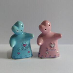Paris Salt & Pepper Shakers - J'aime / I Love Pink and Blue Hugging People