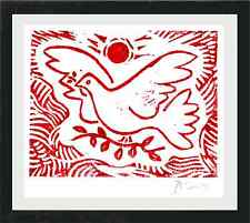 "Pablo Picasso Original Ltd Ed Print ""Dove of Peace"" Hand Signed w/COA (unframed)"