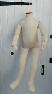 Child's Full Length Cream Mannequin - Quality Kaliko / Posable Armature! 33''!