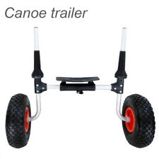 80KG Aluminum Folding Kayak Canoe Boat Trolley Carry Dolly Transport Cart Wheel