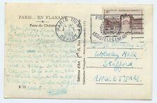 La France histoire postale 1953 posté Paris Tri No1 DEPART DE L'UNICEF RP CARTE POSTALE