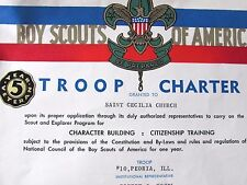 1953 BOY SCOUT OF AMERICA TROOP 10 PEORIA ILL MEMBER & LEADER  CARDS &