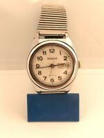 Vintage Mechanical Wrist Watch Raketa USSR Rare Date Day Soviet Work Ракета