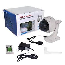 HD PTZ Wireless Wifi Outdoor Network Audio IP Dome Camera IR 3x Zoom Waterproof