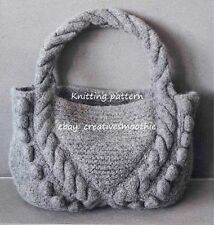 (556) Lovely Bag Knitting Pattern to knit in Chunky wool
