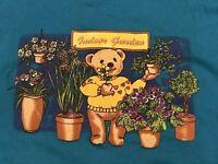 Vintage Jerzees Indoor Gardening Teddy Bear Crewneck Sweatshirt Medium Hipster
