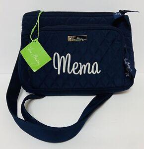 NEW Vera Bradley Little Hipster Navy Blue Microfiber NWT MEMA Personalized Gift