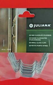 GENUINE Juliana HALLS/AGL Greenhouse W x 20 Glazing Clips. FREE POST