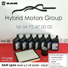 KIT ENTRETIEN VIDANGE DODGE RAM 1500 V8 5.7 LITRES HEMI 2008 - 2013