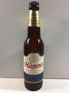 Early 1960s Hamm's Beer Owens-Illinois Duraglas Glass 12oz Beer Bottle Two City