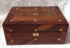 Antique Rose Wood Veneered Box With Pearl Inlay, Sold As Seen & Descibed