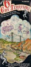 Western Six 6 Gux Territory SILVER SPRINGS FL Vtg Brochure Cowboys Indians Train