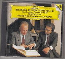 MAURIZIO POLLINI / CLAUDIO ABBADO - beethoven klavierkonzerte nos. 3-4 CD