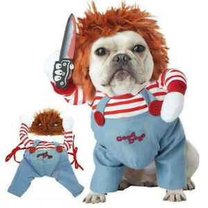 Halloween Costume For Dogs Fancy Clothes Pet Dress Puppy Cat Cosplay Funny Party