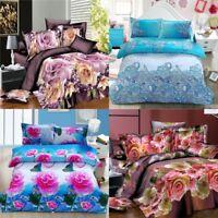 Hot 3D Images 3/4x Pretty Duvet Cover/Pillow case/Sheet Bedding Set Double TOP