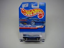 HOT WHEELS--JAGUAR D TYPE 1998 FIRST EDITIONS #6 OF 40-BLUE-NEW ON CARD-