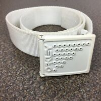 """Oakley Mens Belt Buckle and Strap White 35"""" Long"""