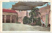 Grauman's Egyptian Theatre - Hollywood, Los Angeles, CA White Border Postcard