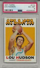 1971-72 Topps LOU HUDSON # 110 PSA 6 EX - MT Atlanta Hawks