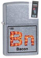 Zippo 29070 bn-bacon element table street chrome full size Lighter + FLINT PACK
