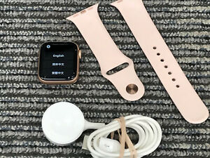 Apple Watch Series 4 Cellular GPS LTE Gold 40mm A1975 MTUJ2LL/A W Pink Sand Band