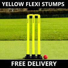FORTRESS Rubber Base Cricket Stumps - Heavy Duty Flexi Wickets With Bails