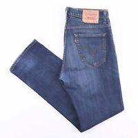 Vintage LEVI'S 752 Slim Straight Fit Men's Blue Jeans W33 L32