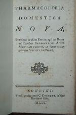 1750 Pharmacopoeia Domestica NOVA von C.Corbett sehr selten !!!