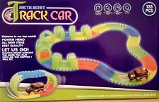 128 Pc Battery Operated  Glow Track Race Car Noctilucent Flexible