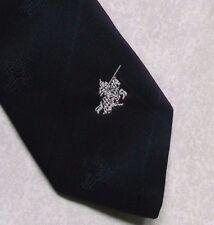 KNIGHT IN SHINING ARMOUR TIE VINTAGE RETRO BLACK ST GEORGE CLUB LOGO 1980s