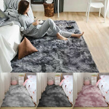 Flauschige Teppich Langflor Hochflor Soft Shaggy Flokati Fußmatte Läufer Weich