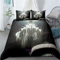 Pendant Grey Doona/Duvet/Quilt Cover Set Single/Double/Queen/King Bed Linen