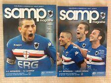 PROGRAMMI UFFICIALI CALCIO SAMPDORIA - JUVENTUS 08/09 SAMPDORIA - CATANIA 09/10