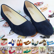 Women's Suede Boat Shoes Casual Slip On Flats Shoes Loafers Ballet Shoes best