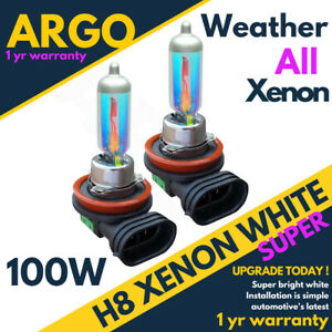 708 H8 Foglight Bulbs 100w Hid Xenon All Weather Super White Spot Fog Headlight