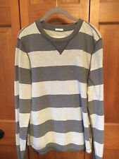 """ABERCROMBIE & FITCH Men's LG """"Muscle"""" Crewneck Pullover Shirt, Gray"""