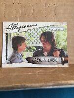 Walking Dead #AL-2 Daryl & Carol Allegiances Evolution Insert Trading Card 🎥🎥