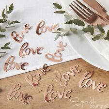 Ginger Ray Rose Gold Love Table Wedding Confetti - Botanics