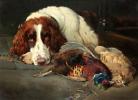 Hound and prey Oil painting Wall Art Picture HD printed on canvas L1395