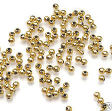 Gold Plated Acrylic Pearl Beads 4mm Large Bag 1500 pieces