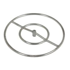 """6"""" 12"""" 18"""" 24"""" 30"""" Stainless Steel Gas Burner Ring Fire Pit Firepit Logs"""