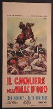 Locandina IL CAVALIERE DELLA VALLE D'ORO 1964 JOCK MAHONEY, WESTERN