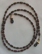 Eyeglass Chain Holder Wood (Brown) & Gold