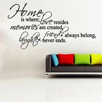 Home Is Where Decal Vinyl Wall Sticker Art Home Sayings Popular
