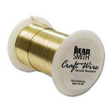 Beadsmith 28 Gauge Wire- 40Yd/36.5M, Non-Tarnish GOLD