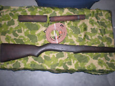 WW2 U.S M-1 GARAND RIFLE BUTT STOCK,HANGUARDS, & LEATHER SLING SET = 4 PIECES